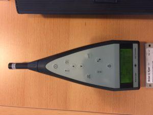 Geluidsmeter van Bruel & Kjaer voor geluidsmetingen